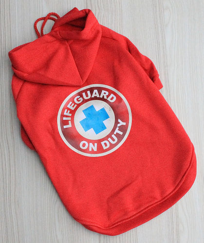 Sweatshirt für Hunde - Lifeguard on Duty