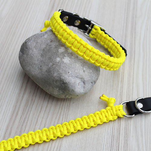 HB - Biothane/Paracord - 20mm - NEON YELLOW