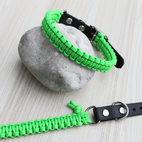 HB - Biothane/Paracord - 20mm - NEON GREEN