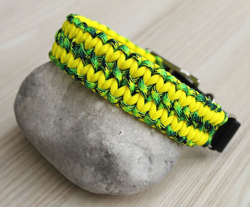 HB - Biothane/Paracord - 35mm - WIDE SOLOMON - GECKO & NEON YELLOW - Variante 1