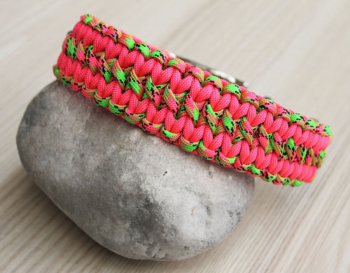 HB - Biothane/Paracord - 35mm - WIDE SOLOMON - SALMON & WATERMELON - Variante 1
