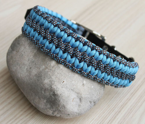 HB - Biothane/Paracord - 35mm - WIDE SOLOMON - BABY BLUE & BABY BLUE CHOCOLATE BROWN DI - Variante 1