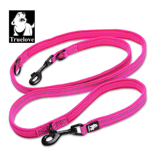 TRUE LOVE Leine - 2m - verstellbar - pink